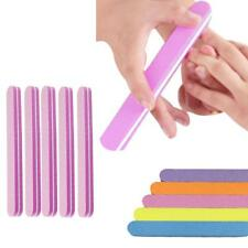 5 x Double Side High Quality Nail File Buffer Sanding Washable Manicure Tool