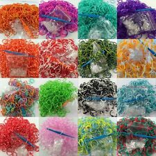 600pcs+24 S-Clip Hook Rainbow Rubber Bands Loom Bracelet Making Free Shipping