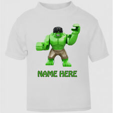 New Personalised Lego Hulk Movie T-Shirt Boys Girls Top Age Size gift kids cute