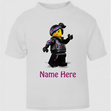 New Personalised Lego Wyldstyle Movie T-Shirt Boys Girls Top Age Size gift kids