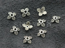50/200/1000pcs Tibetan Silver Flower Bead Caps Charms Jewelry Finding DIY 6mm