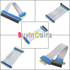 1X/8X/16X 1X To 16X PCI-E Extension Flex Cable 32 Bits PCI Extender Adapter Good