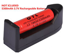 18650 GTL Li-ion 5300mAh 3.7V Rechargeable Battery for LED Torch + Charger GA