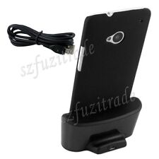 Protective Case + Desktop Dock Cradle Charger USB Data Sync Stand For HTC One M7