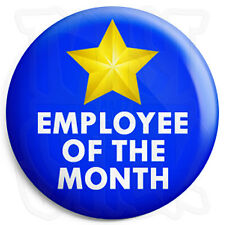 Employee of the Month - 25mm Work Award Button Badge with Fridge Magnet Option