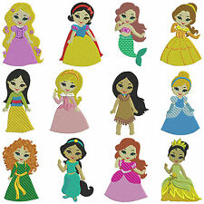 PRINCESSES 1 * Machine Embroidery Patterns * 12 designs, 2 sizes