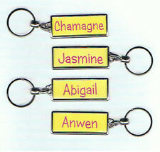 Personalised Girls Name Keyrings Key Ring Gift Named School Party Initial A