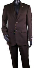 NWT LUXURY MEN'S SUIT BY FALCONE 3869-208 REGULAR OR LARGE 3PC SET ORG.$399