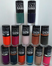 MAYBELLINE, COLORAMA, COLOR SHOW ASSORTED NAIL LACQUER / POLISH. NEW