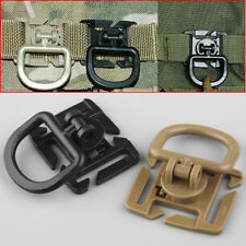 Tactical 360° Rotation D-Ring Buckle MOLLE Webbing Locking Carabiner Backpack