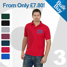 Personalised Embroidered / Printed Polo Shirts Customised Workwear Text/Logo Lot