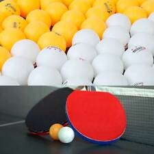 50pcs Professional White/Orange 3-Stars 40mm Olympic Ping Pong Table Tennis Ball