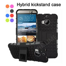 2 in 1 Heavy Duty Hard Shockproof Kickstand Silicone Case Back Cover for Phone