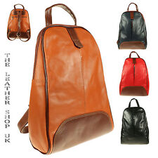 Soft Italian Leather Design High Quality Ladies Unisex Backpack Rucksack BP007