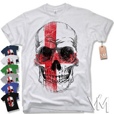 SKULL T-Shirt ENGLAND - UK EM United Kingdom Football Soccer 2016 S M L XL XXL