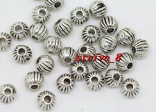 50/200/1000pcs Tibetan Silver Beautiful Beads Jewelry Charms Spacer Beads 4mm