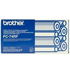 ORIGINAL BROTHER PC74RF FAX MACHINE ROLL FOUR PACK / 4 ROLLS / BRAND NEW SEALED