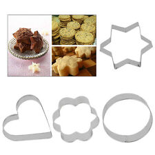 Stainless Steel Cookie Biscuit Pastry Fondant Cake Decorating Mold Mould Cutter