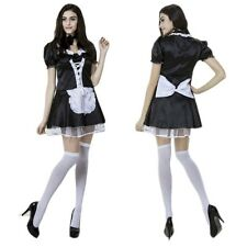 New Cosplay Costume Lolita Ruffle Apron Maid Outfits Halloween Party Sexy Dress