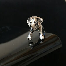 Antique Silver Plt Labrador Dog Ring  / Thumb Ring Adjustable ladies Mens gift