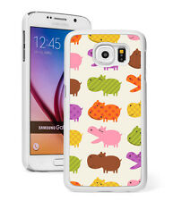 For Samsung Galaxy S7 S4 S5 S6 Edge + Mini Active Hard Case 1340 Hippo Pattern