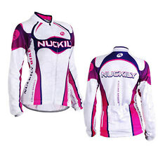 Womens Cycling Jersey Bike Bicycle Clothing Long Sleeve Jersey Top Breathable