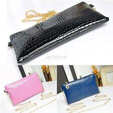 Women Evening Handbag Lady Envelope Clutch Shoulder Chain Tote Bag Purses U10