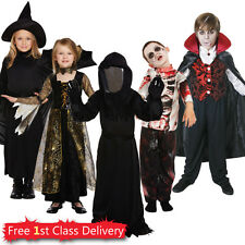 Kids Cheap Halloween Fancy Dress Costumes Boys Girls Zombie Witch Vampire 4-12