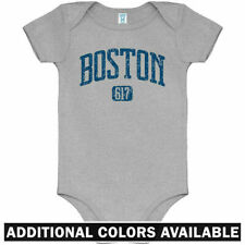 Boston 617 One Piece - Red Sox Celtics Bruins Baby Infant Creeper Romper NB-24M