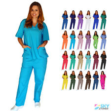 Unisex Men/Women Scrub Set Top & Pants Uniforms Medical Hospital Nursing XS-3XL