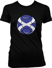 Scotland Flag Soccer Ball Pride Alba Scottish Pride Independence Juniors T-shirt