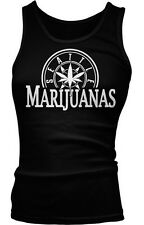 Seattle Marijuanas Parody Funny Humor Weed Pot Leaf Stoner Boy Beater Tank Top