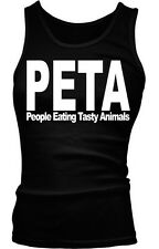 PETA People Eating Tasty Animals Funny Parody Paleo Humor Boy Beater Tank Top