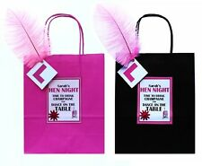 LUXURY PERSONALISED  HEN NIGHT PARTY GIFT BAGS PINK OR BLACK