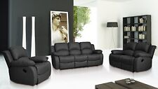 Leather Recliner Sofas 3+2+1 Seaters Suites in Stunning Valencia Range