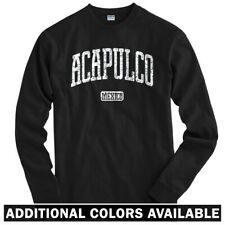 Acapulco Mexico Long Sleeve T-shirt LS - Beach Surf Surfing Resort - Men / Youth