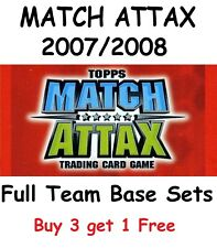 Match Attax 07/08 Full Team Base Sets of 16 cards Topps 2007/2008 07 08