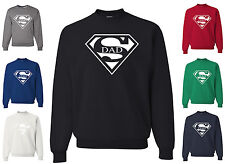 Super Dad Funny Sweatshirt Father's Day Birthday Gift For Dad Super Hero Humor