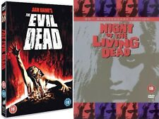 2 x Classic Horror DVDs The Evil Dead & Night Of The Living Dead UK R2 Halloween