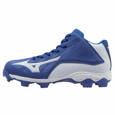 Mizuno Youth Mid Advanced Franchise 8 Molded Baseball Cleat - Royal - 320506