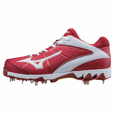 Mizuno Women's 9-Spike Swift 4 Metal Fastpitch Softball Cleats - 320510 - Red