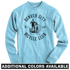 Denver Bicycle Club Long Sleeve T-shirt LS - Cycling Vintage Bike - Men / Youth