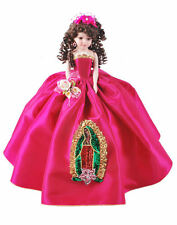 """18"""" Quinceanera Doll with Virgen de Guadalupe on Skirt AVAILABLE IN MOST COLORS"""