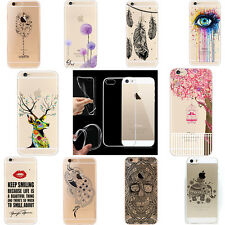 New Fashion Pattern Crystal Soft Silicone TPU Case Cover For iPhone 6S plus 5S 5