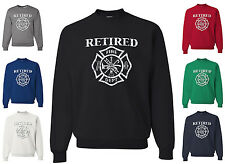 Retired Firefighter Sweatshirt Fireman Fire Dept FD Local Hero Volunteer
