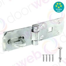GALVANISED HASP AND STAPLE Heavy Duty Lock Door Gate Shed Garage Hot Dipped