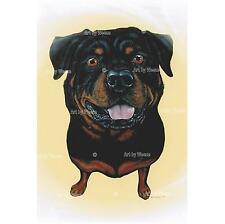 Rottweiler Art Print Rottie Dog Breed Picture Pet Portrait Dog Lover Gift