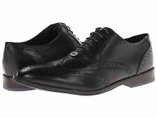 Men's Hush Puppies Style Brogue Oxford Dress Shoe Black Leather