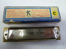 VINTAGE M HOHNER MARINE BAND HARMONICA KEY OF C.MADE IN GERMANY