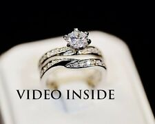 1.68 Carat Engagement Wedding Ring Platinum Finished In Silver
